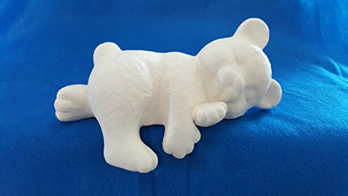 Sleeping Bear Shelf Sitter unpainted ceramic bisque ready to be painted