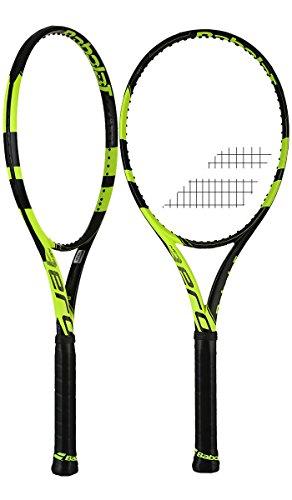 - Babolat Pure Aero Plus + Yellow / Black Tennis Racquet (4 1/4