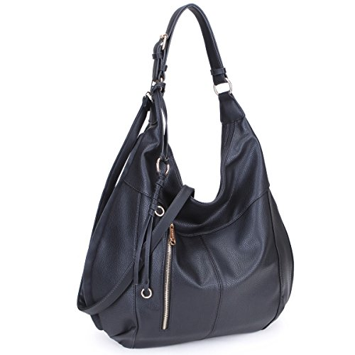 bf07a4cf2417 Dasein Womens Large Soft Hobo Bag Fashion Shoulder Bag Tote Purse ...