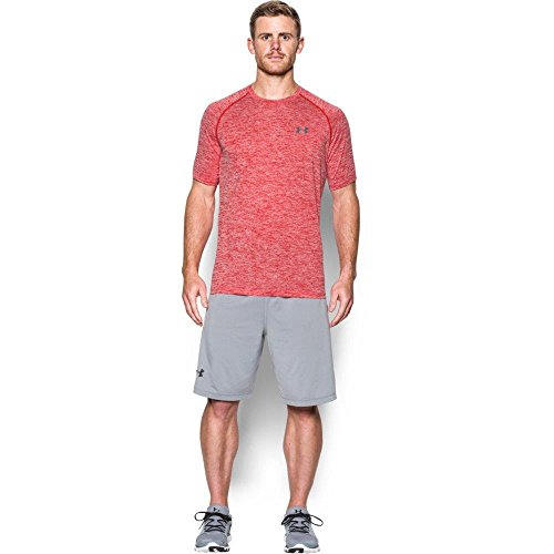 Under Armour Men's Tech Short Sleeve T-Shirt, Red/Graphite, Small