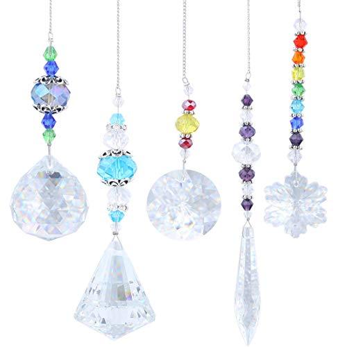 Crystalsuncatcher Chandelier Suncatchers Prisms Glass Rainbow Maker Chakra Hanging Suncatcher Window Sun Catcher GiftPack of 5