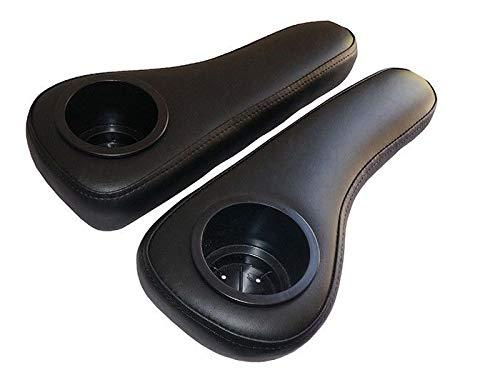 (3G Rear Seat Arm Rests- Black for EZGO, Club Car & Yamaha Golf Carts)