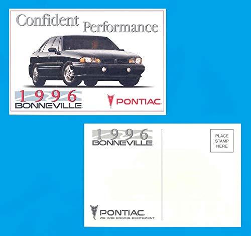 1996 PONTIAC BONNEVILLE 4-Door SEDAN FACTORY ORIGINAL COLOR POSTCARD - USA - GREAT VINTAGE POST CARD !!