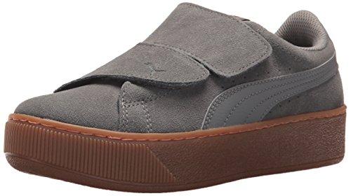 Cheap PUMA Women's Vikky Platform Velcro Sneaker, Smoked Pearl-Smoked Pearl, 7 M US