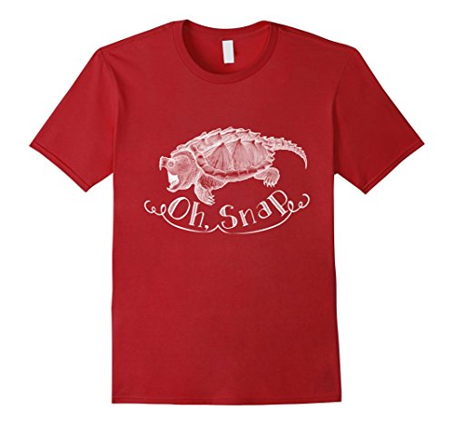 Mens Oh Snap! Alligator Snapping Turtle shirt XL Cranberry