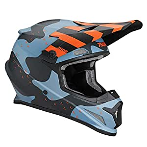 Amazon.com : Thor Sector Mosser MX Helmet Medium Blue Camo ...