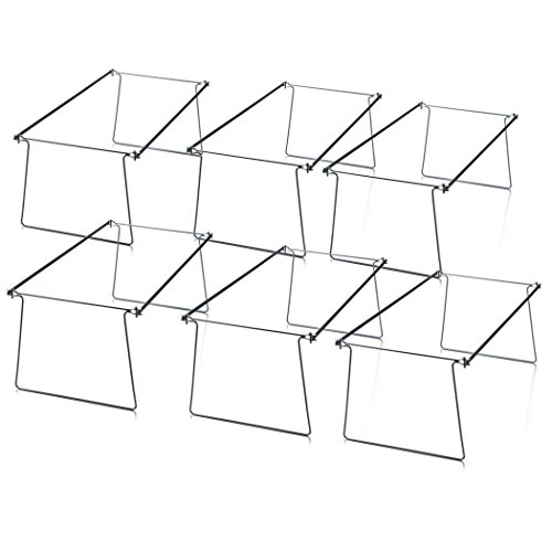 Officemate Hanging File Frames, Letter Size, Steel, 6 Pack (98620) Photo #4