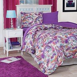 Lavish Home 21-Piece Natalie Kids Bedroom and Bathroom Comforter Towels Set, Twin