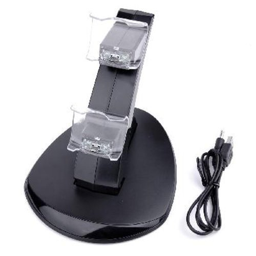 Dual USB Charger Charging Dock Stand for Sony Ps4 Controller by DHB
