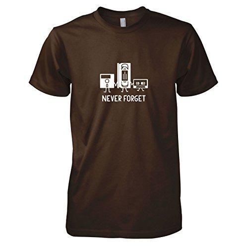 TEXLAB - Never Forget - Herren T-Shirt, Größe XL, braun