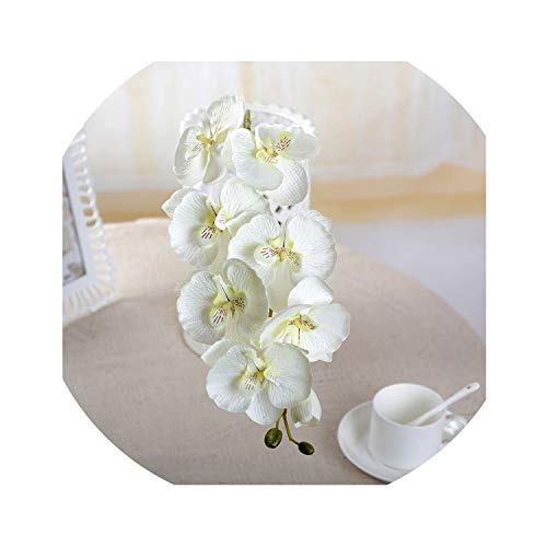 1pcs Fashion Butterfly Orchid Artificial Flowers Flower Head Party Home Decor Wedding Decoration Accessories,C