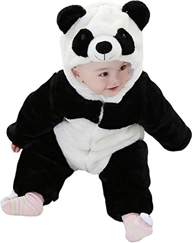 Baby Winter Snowsuit Fleece Hoodie Jumpsuit Outwear Bear One-Piece 18-24Months Panda -