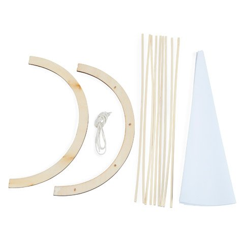 Bulk Buy: Darice DIY Crafts Wood Model Kit Teepee 8 x 10 inches (6-Pack) (Teepee Diy)