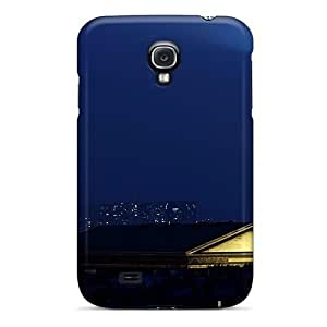 For Galaxy Case, High Quality Night Sky Over The Eiffel Tower For Galaxy S4 Cover Cases