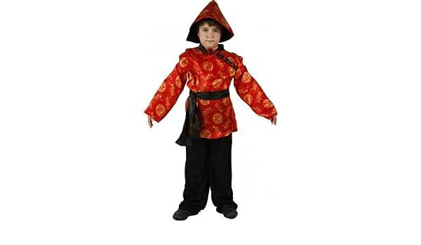Atosa Disfraz de chino para niño, talla 10-12 años: Amazon.es: Juguetes y juegos