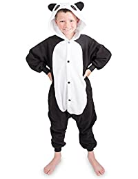Emolly Kids Panda Animal Onesie Pajama Costume - Soft and Comfortable With Pockets!
