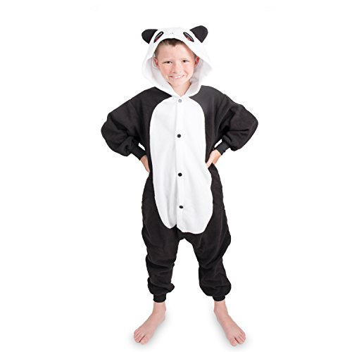 Emolly Kids Panda Animal Onesie Pajamas Costume (10, panda)