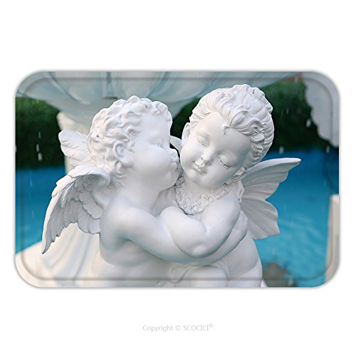 [Flannel Microfiber Non-slip Rubber Backing Soft Absorbent Doormat Mat Rug Carpet Statue Of Cupid At Public Fountain In Thailand 130550870 for Indoor/Outdoor/Bathroom/Kitchen/Workstations] (Dark Cupid Costumes)