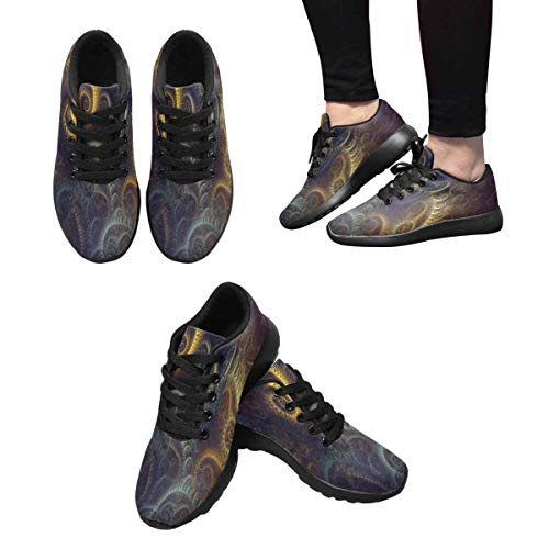 InterestPrint Womens Running Shoes Lightweight Sneakers Athletic Tennis Sport Shoes Beautiful Ditsy Floral Background