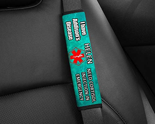 Addison Disease. Special Needs Seat Belt Cover, Seat Belt Cover, Medical Alert, Special Needs Gift, Special Needs Parents Gift by AprilLove