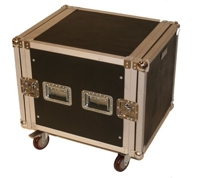 Seismic Audio - 10 SPACE RACK CASE Amp Effect Mixer PA/DJ - Wheel/Casters by Seismic Audio