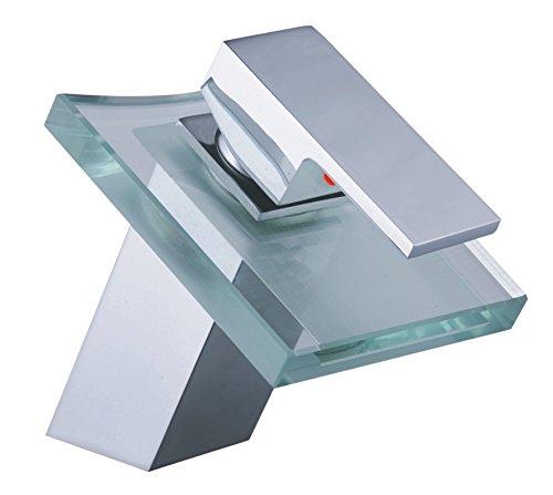 (WYMBS Creative furniture decoration bathroom accessories Gauge cocks basin waterfall faucet glass bathroom sink faucet)