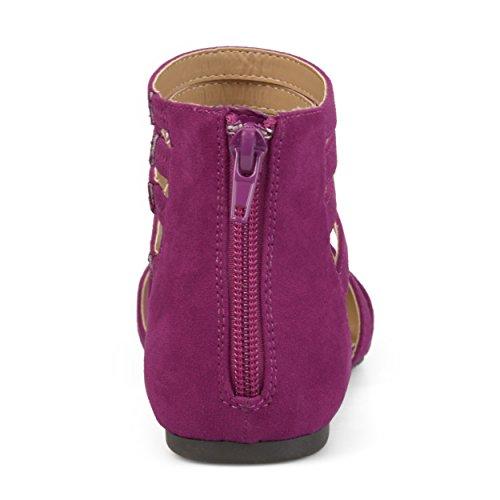 Journee Collection Bandoulière Femme Faux Daim Flats Violet