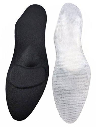 orthopaedic Women's Comfort Shoe inserts black for High Heel, Pumps & Heel shoes by Green-Feet, the 1, 8mm dünnen Insoles against Fallen arches u. splayfoot - Black, Black, 41