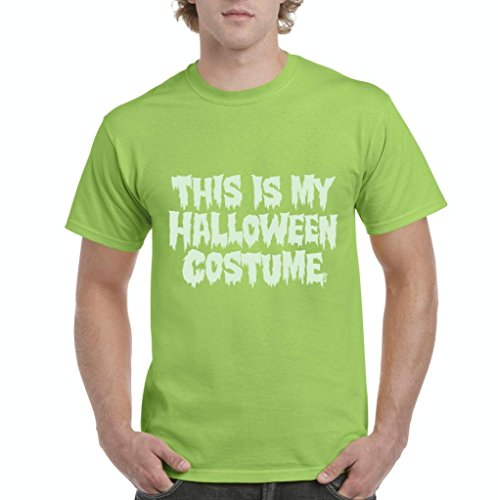 Xekia This is My Halloween Costume Fashion Party People Best Friends Gift Couples Gift Men's T-Shirt Tee XXX-Large Lime Green -