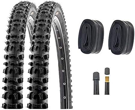 P4B | 2 neumáticos de bicicleta de 26 pulgadas (54-559) | 26 x 2,10 | con tacos laterales para un buen agarre en las curvas.