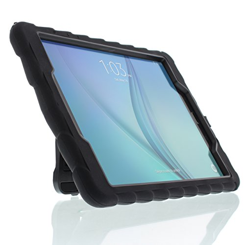 Gumdrop Cases Hideaway Stand for Samsung Galaxy Tab A 9.7 Rugged Tablet Case Shock Absorbing Cover Black/Black SM-T550