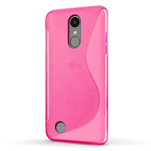 Funda LG K4 2017, SLEO Slim Fit TPU Carcasa de Parachoques Case Traslúcido Suave con Absorción de Impactos y Resistente a los Arañazos para LG K4 2017 - Negro Rosa