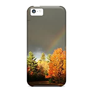 TYHH - For OkC297VnEE Rainbow Over An Autumn Forest Protective Case Cover Skin/iphone 5/5s Case Cover ending phone case