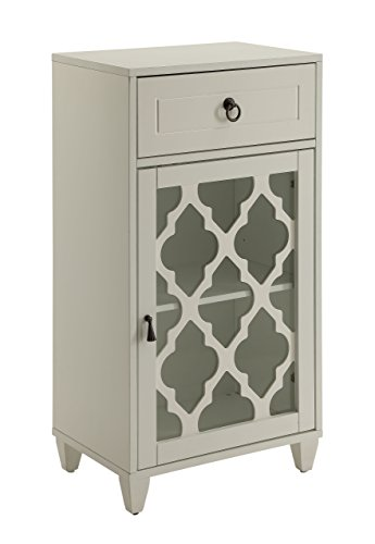 Acme Furniture Acme 97378 Ceara Floor Cabinet, White, One ()