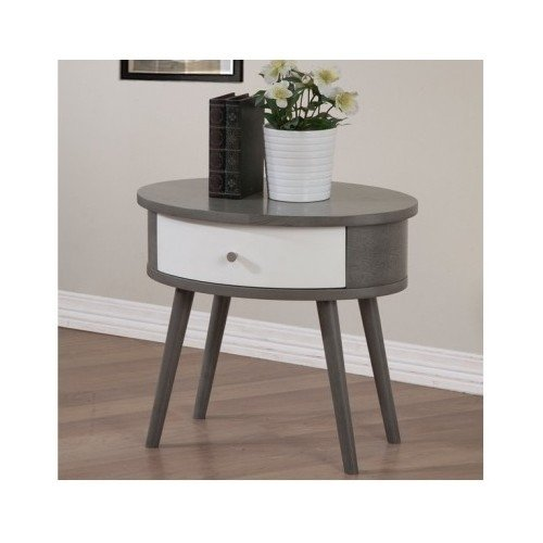 Pedestal Nightstand Side Table with Drawer Storage Bedroom G