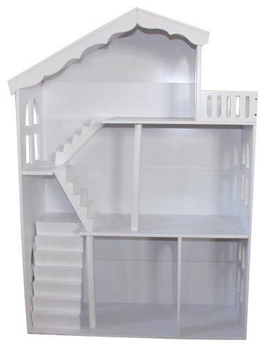 Liberty House Toys Dollhouse Bookcase With Balcony White Amazoncouk Kitchen Home
