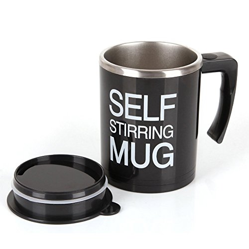 Self Stirring Coffee Mug (Black/Silver) - 2