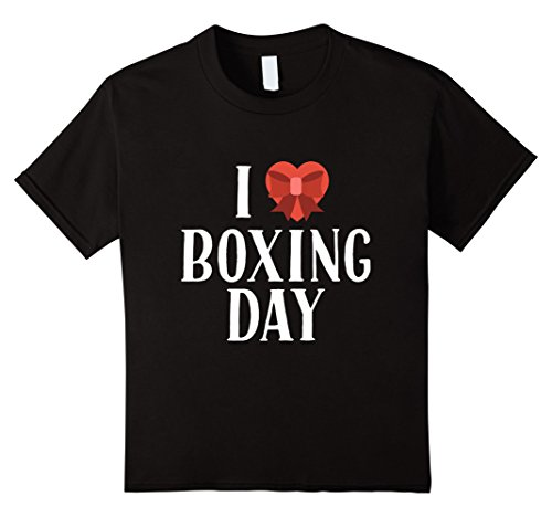 Kids I Love Boxing Day Shopping After Christmas Sale Cool T-Shirt 8 Black