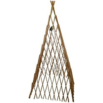 Master Garden Products Peeled Willow Expandable Teepee, 14 By 60 Inch