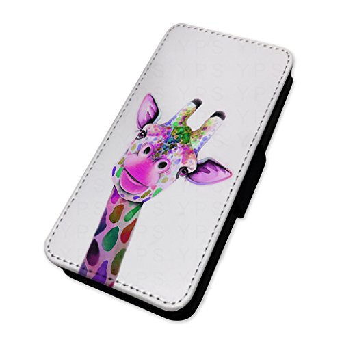 Adorabile giraffa Colouful–Custodia ad aletta in pelle copertura di carta Apple Iphone 6 Plus/6s Plus