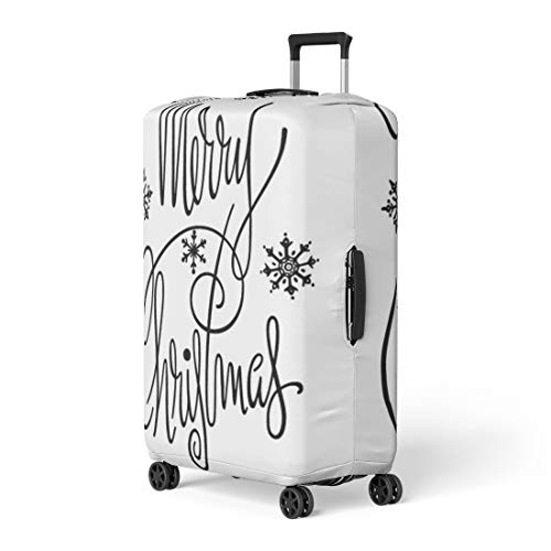 (Pinbeam Luggage Cover Vintage Merry Christmas Retro Clipart Clip 1950 50S Travel Suitcase Cover Protector Baggage Case Fits 26-28 inches)