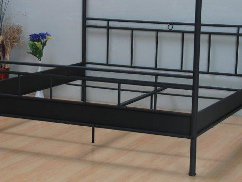 Metallbett Himmelbett Bett 140x200 Schwarz Doppelbett Ehebett Neu:  Amazon.de: Küche U0026 Haushalt Nice Look