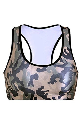 Cheap Pink Queen Women's Camo Printed Sports Bra Running Aerobics Yoga Vest(S)