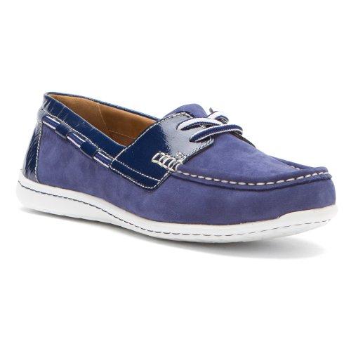 Boat Women's Clarks Cliffrose Patent Sail Shoe Blue aw1Ut1