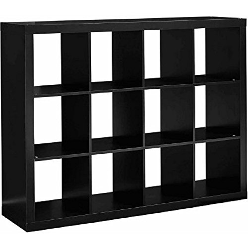 Better Homes and Gardens 12-Cube Organizer (12-Cube, Solid Black) from Better Homes & Gardens