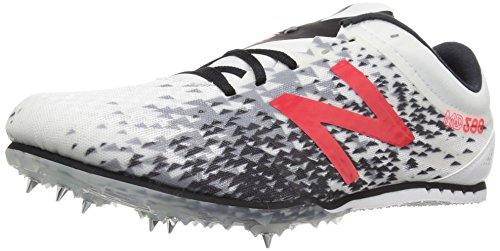 New Balance Men's MD500v5 Track Shoe, White/Black, 10 D US (Track Spikes Men Shoes)