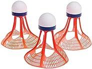 3Pcs Windproof Badminton Balls, Outdoor Training Badminton, Plastic High Speed Shuttlecocks with Great Stabili