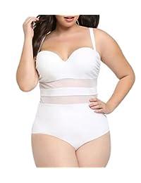 Eternatastic Women's Summer One-piece Monokini Swimsuit Swimwear Plus Size