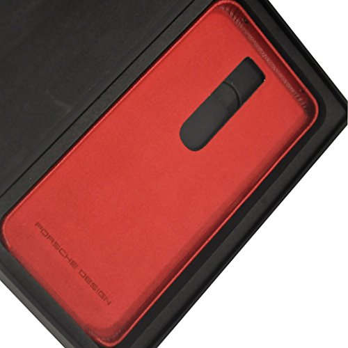 Genuine Porsche Design Leather Case/Back Cover for Porsche Design Huawei Mate RS Smartphone (Red)