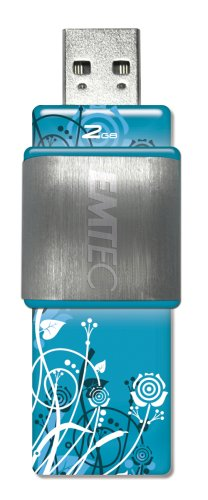 EMTEC S420 LaFleur Series 2 GB USB 2.0 Flash Drive (Blue)